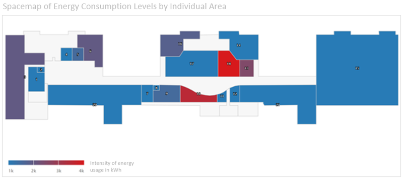 Spacemap of Energy Consumption Levels in Building
